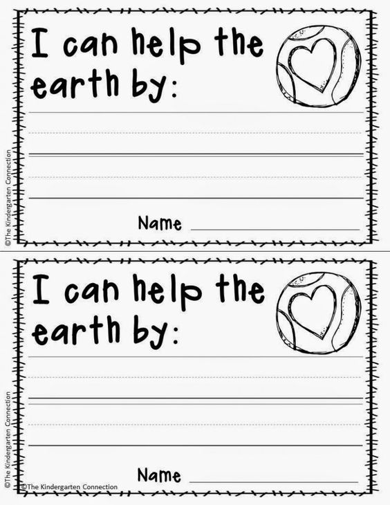 I can Help Earth Day Projects For Kids