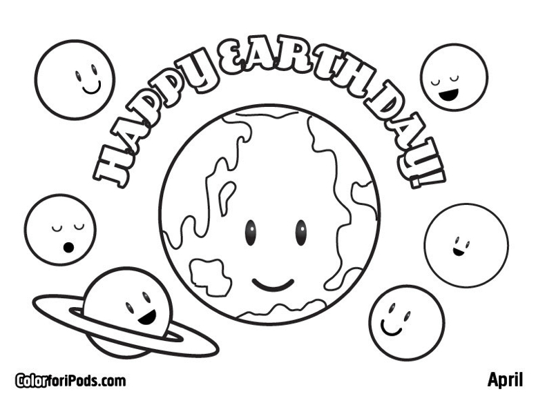 Earth day 2017 coloring pages
