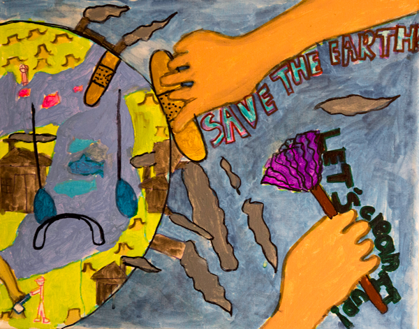 Save Earth Drawing Pictures